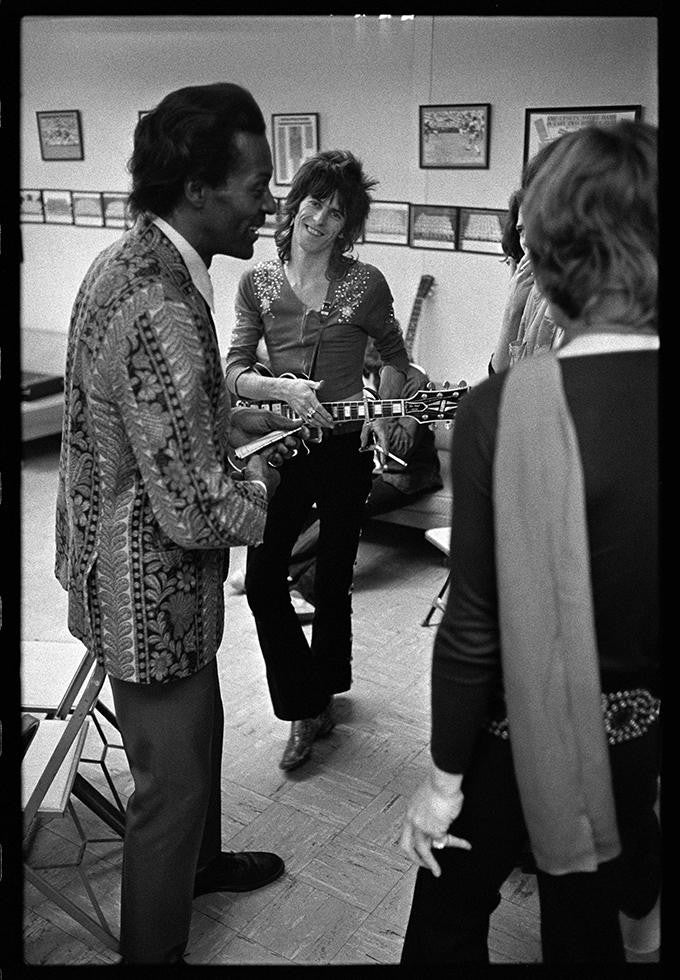 Keith Richards & Chuck Berry, The Rolling Stones, 1969