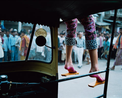 Pink Feet on Rickshaw