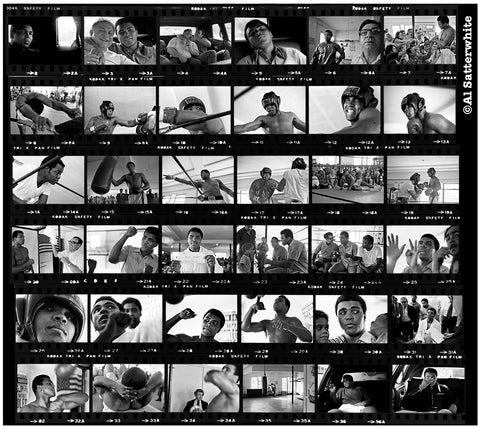 Muhammad Ali Contact Sheet, Fifth Street Gym, Miami, FL