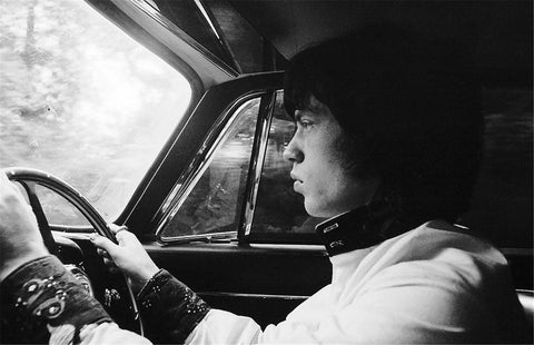 Mick Jagger driving