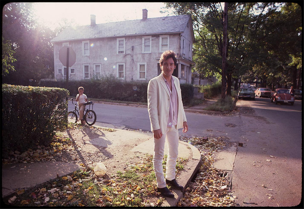 Bruce Springsteen outside his childhood home