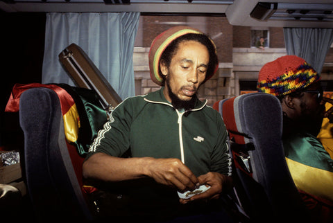 Bob Marley on Tour Bus