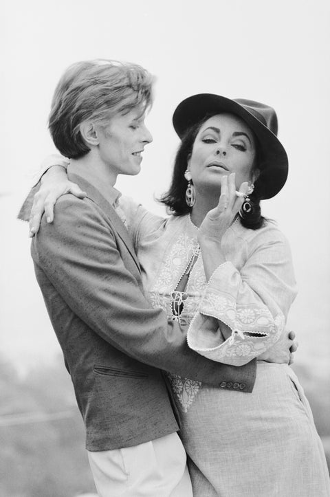 David Bowie and Elizabeth Taylor, Beverly Hills, CA, 1975