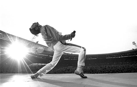 Freddie Mercury, Queen, Magic Tour, Wembley Stadium, England, 1986