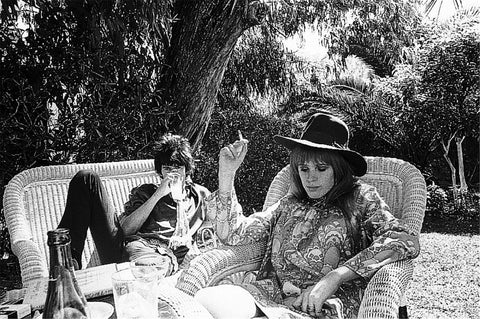 Keith Richards and Marianne Faithful in Morocco-1967