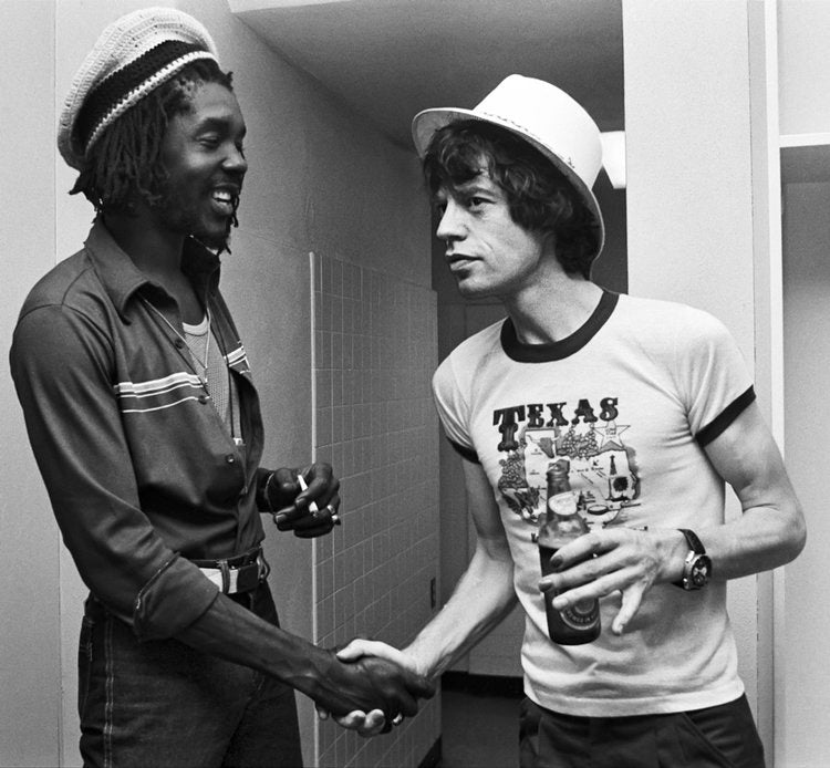 Peter Tosh and Mick Jagger