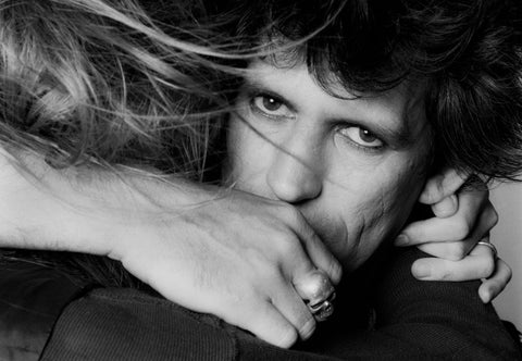Keith Richards and Patti Hansen
