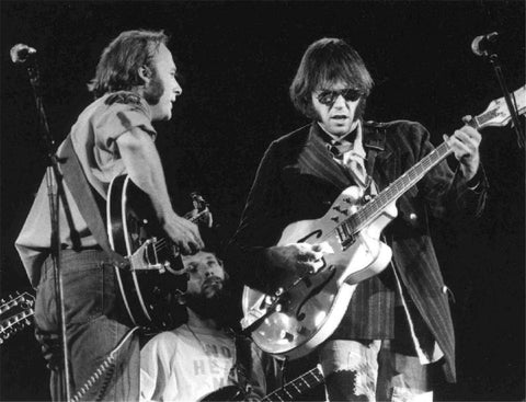 Stephen Stills & Neil Young, Wembley Stadium, London, 1974