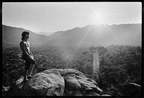 Keith Richards at sunrise in Joshua Tree National Park