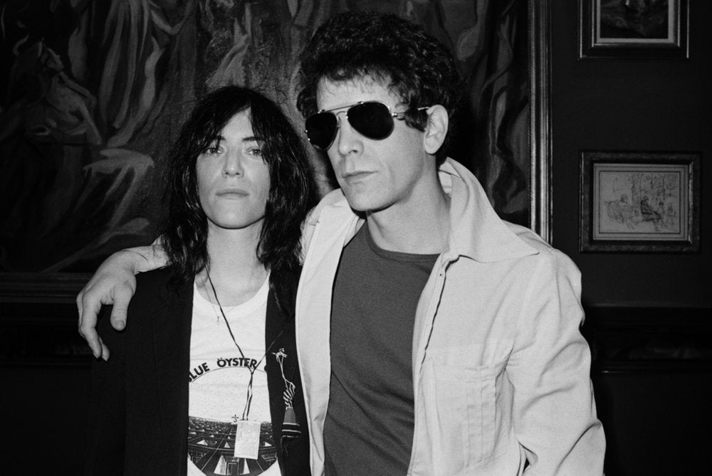 Patti Smith and Lou Reed