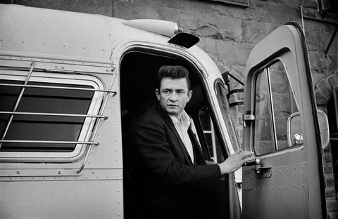 Johnny Cash- Exiting bus