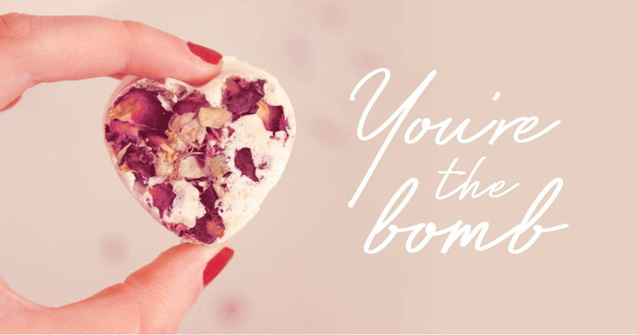 DIY Valentine's Day Bath Bombs