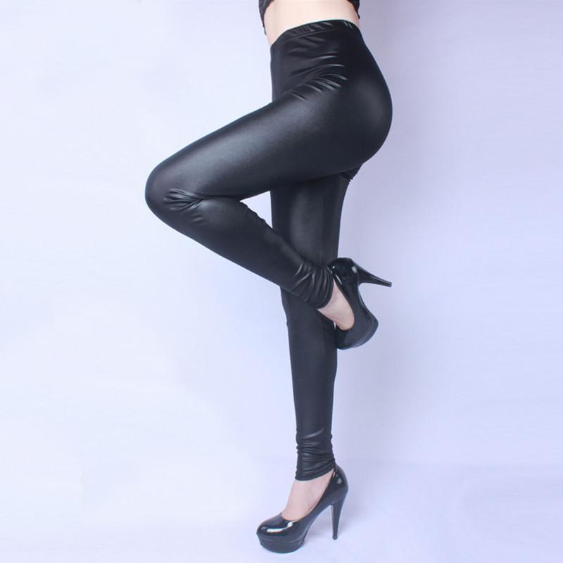 High Waist Leather Pants - Free Shipping!