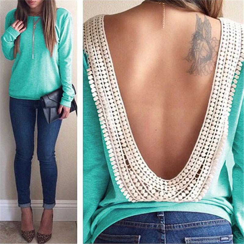 Backless Lace Blouse