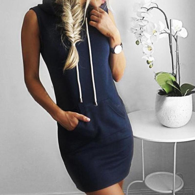 Mya Sleeveless Dress w/ Hoodie