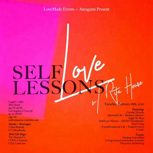 Self-Love Lessons, February 18th @ Rita House