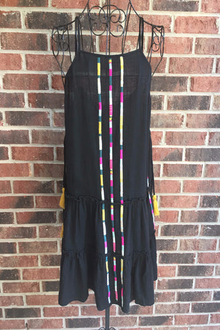 THML Fiesta Black Stripe Dress