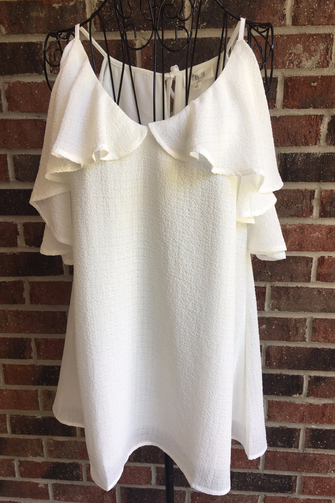 Ivory Cold Shoulder Top