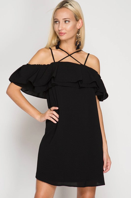 Cross My Heart Black Dress