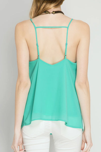 Jade Strappy Cami Top