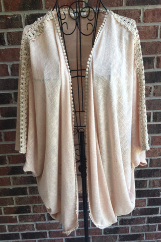 Lace Trim Cardigan