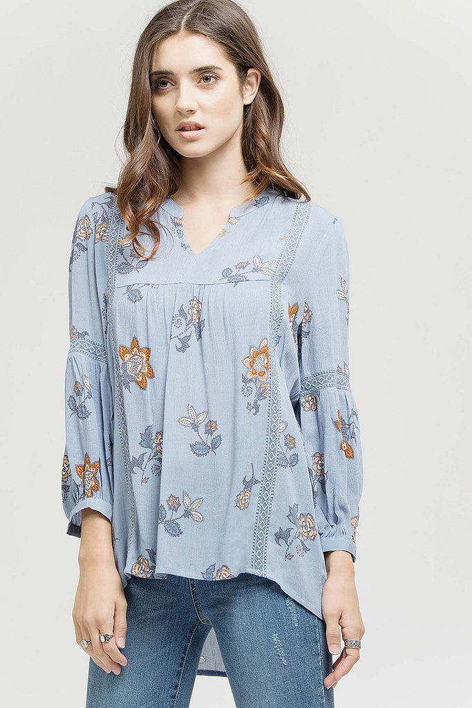 Lazy Days Baby Blue Top