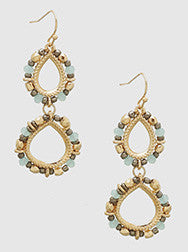 Double Beaded Earrings