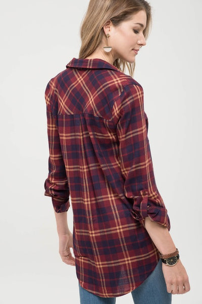 Plaid For Saturday Top
