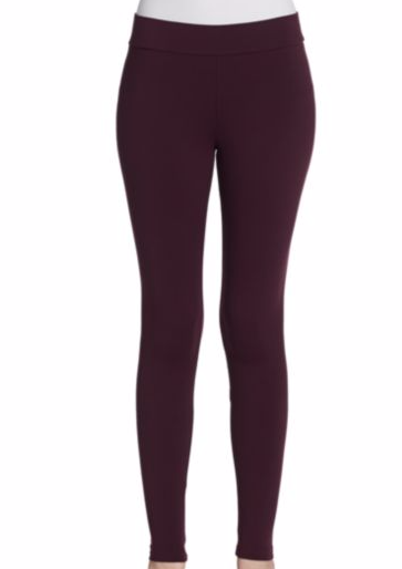 Willow and Clay Burgundy Leggings