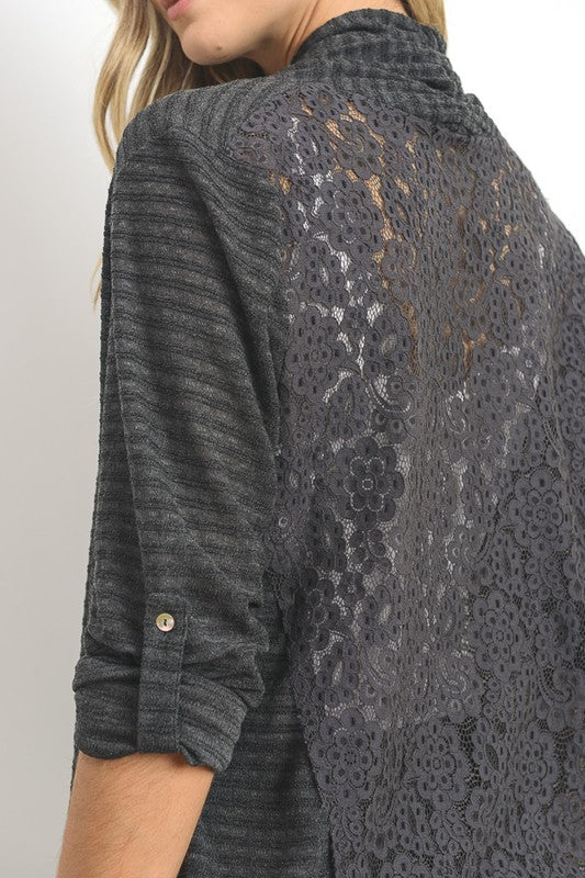 Lacy Shawl Cardigan