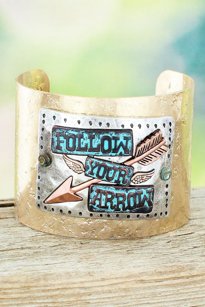 Follow Your Arrow Cuff Bracelet