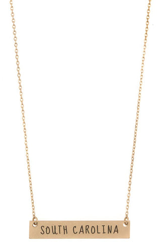 Gold SC Pendant Necklace