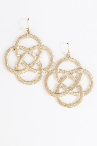 Gold Metallic Earrings