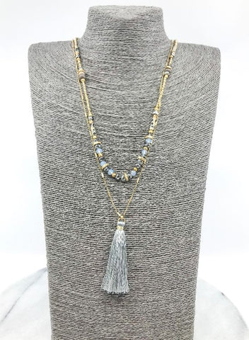 Layered Gray Necklace