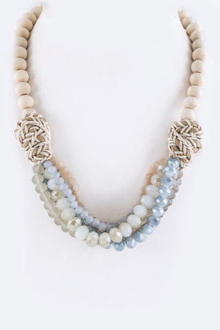 Gray Beaded Layer Necklace
