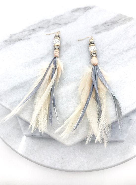 Ivory Feather Earrings