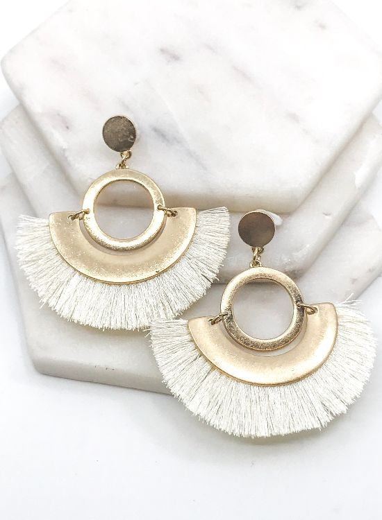 Crescent Ivory Earrings