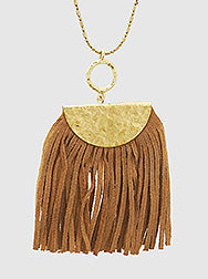 Dusty Brown Suede Necklace