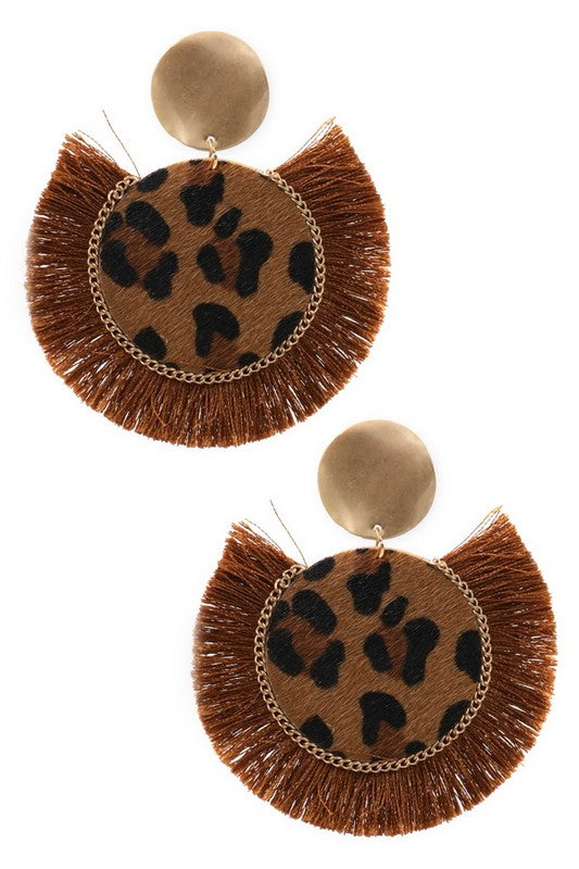 Bold Leopard Earrings