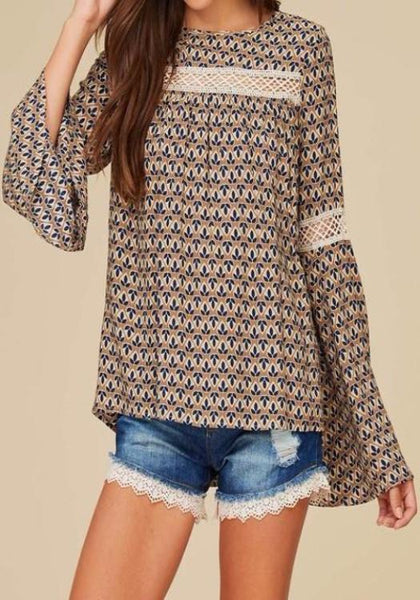 Bell Sleeve Peasant Top