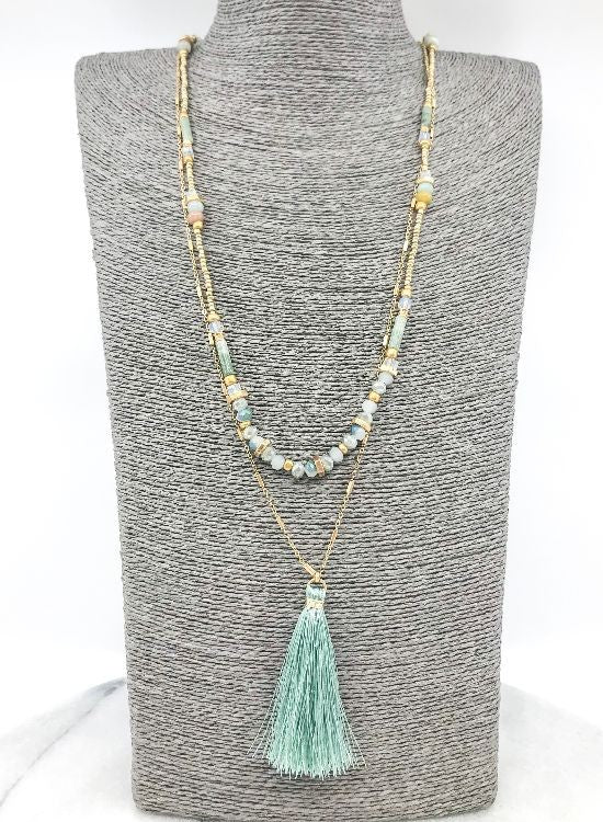 Layered Mint Necklace