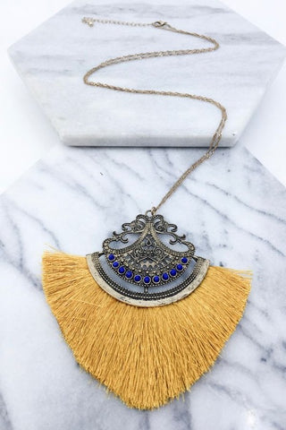 Mustard Filigree Necklace