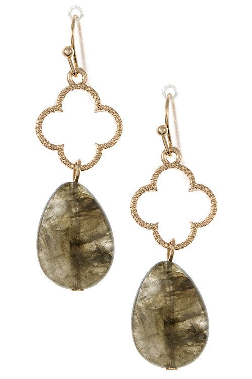 Olive Gem Earrings