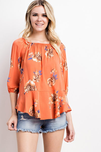 Orange Passion Top