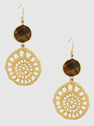 Natural Stone Stencil Earrings