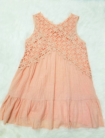 Southern Peach Lace Dress