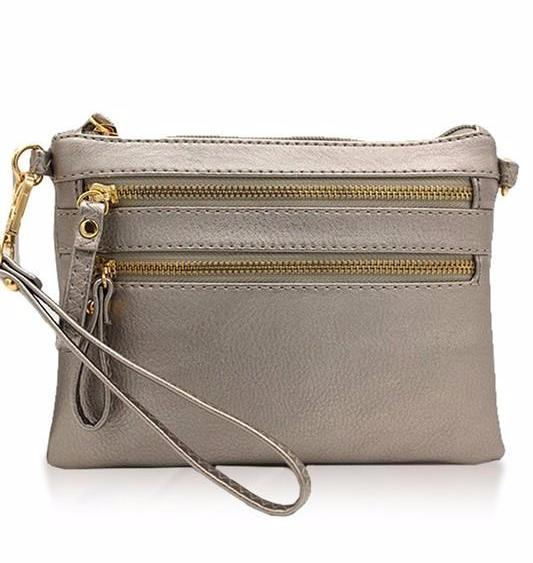 Pewter Cross Body Bag