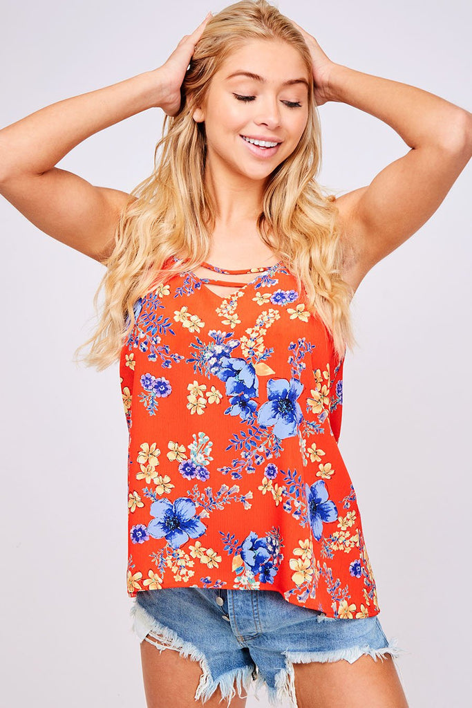 All American Floral Top