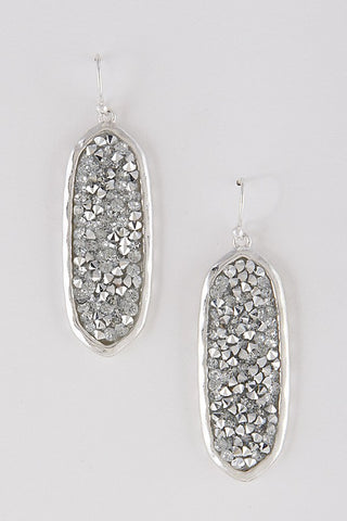Oval Sparkle Earrings