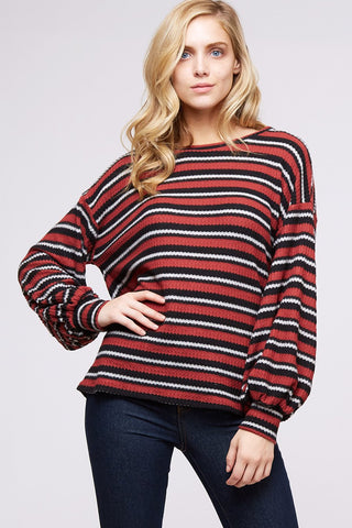 Garnet Stripe Top